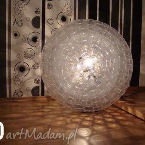 lampa z kubków pet, transparent, prezent, lampa, kubki, design, święta