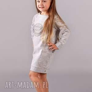 Sukienka z kieszeniami MOON, sukienka, tunika, tuba, dziewczynka, cekiny,