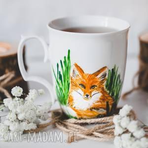 hand made kubki kubek ręcznie malowany lis