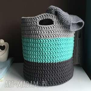 hand made pudełka kosz ze sznurka bawełnianego 3 kolory duży