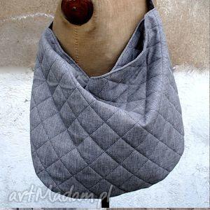 ręczne wykonanie torebki hobo xxl na ramię sir elton - popiel/kawa