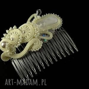 Ozdobny ślubny grzebień do włosów - Ręcznie robione
