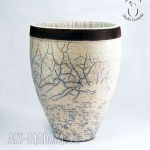 wazon osłonka na storczyka - wazon, osłonka, ceramika, raku