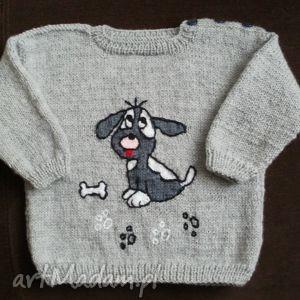"""Sweterek """"piesek"""" gaga art sweterek, rękodzieło,"""