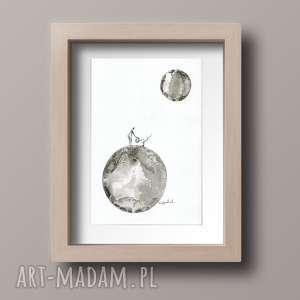 obrazek A4 malowany ręcznie, minimalizm, abstrakcja, obraz-ręcznie-malowany