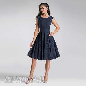 sukienki sukienka scarlett midi haft richelieu granat, office style