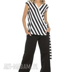 spodnie alladynki z kieszeniami, t259, czarne, spodnie, alladynki, kieszenie