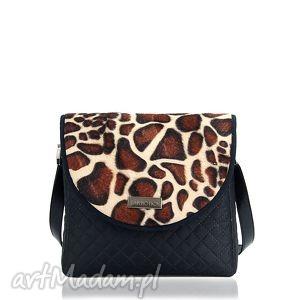 torebka puro 310 giraffa, klapka, plusz, żyrafa torebki, pod choinkę prezent