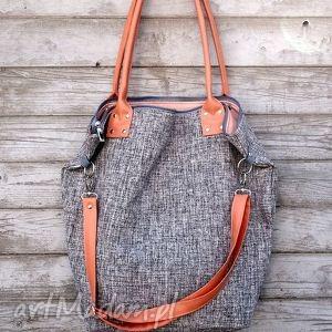 ręcznie zrobione na ramię torba worek basmati peach