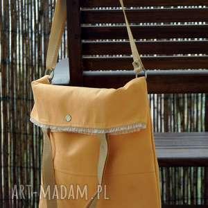 morelowa torba z alcantary, torba, alcantara, letnia, prezent, wstążka