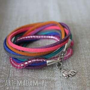bransoletki kolorowa zawijana bransoletka boho, podwójna, zawijana, bransoleta