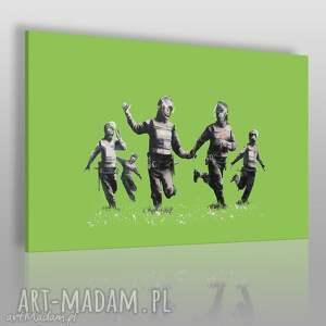 Obraz na płótnie - BANKSY HAPPY SWAT TEAM 120x80 cm (20021), banksy, streetart