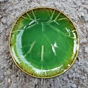 misa ze strukturą żywego liścia, ceramika, misa, liść, kuchnia, patera, prezent