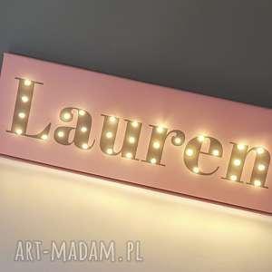 neon z twoim imieniem, obraz led, personalizowany prezent na urodziny, roczek, lampka