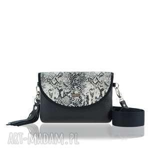 ręczne wykonanie torebki torebka puro smart 2259 python gray and black