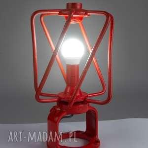 Designerska, unikalna, oryginalna, indywidualna lampa stojąca handmade z materiałów