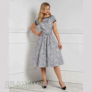 sukienka marie midi margaretta, midi, rozkloszowana