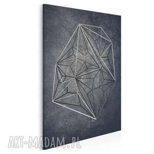 obraz na płótnie - geometryczny loft industrialny w pionie 50x70 cm 71503