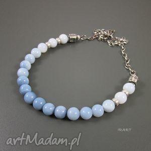 handmade naszyjniki naszyjnik z niebieskiego opalu
