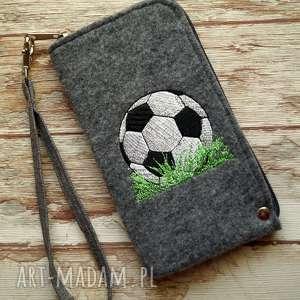 Prezent Filcowe etui na telefon - piłka, smartfon, pokrowiec, męski, piłka-nożna