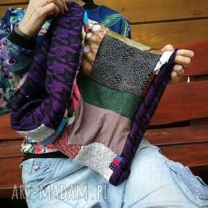 komin patchworkowy na podszewce miękki, miły, uszyty z rożnych kawałków, cześć