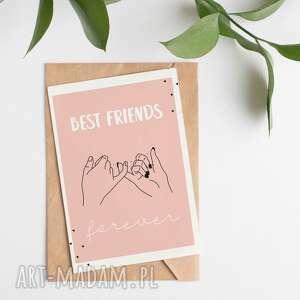 handmade kartki kartka okolicznościowa best friends forever przyjaźni