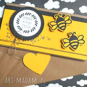 Kartka - kopertówka:: pszczółki kartki kaktusia ślub, urodziny,