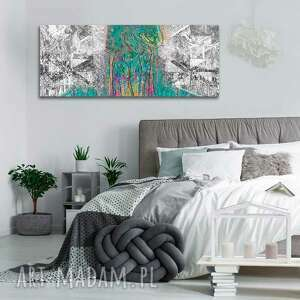 nowoczesny obraz abstrakcja las, 100x40, obrazy