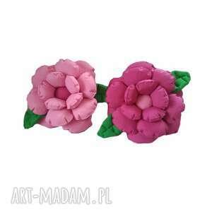 Komplet poduszek dekoracyjnych kwiaty jasny i ciemny róż