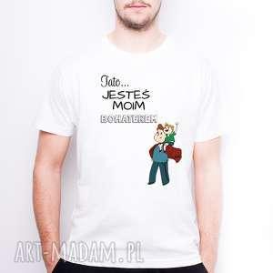 koszulki koszulka męska tato jesteś moim bohaterem, dlataty, dlaniego, dzientaty