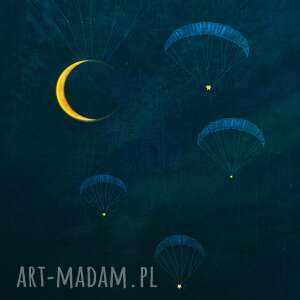 zmierzch grafika b2, plakat, grafika, noc, księżyc, święta