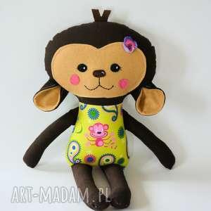 Małpka Hania 45 cm, małpka, zabawka, dziewczynka, roczek, maskotka, przytulanka