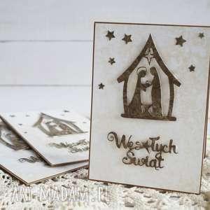 pomysł na prezent Kartki ze stajenką - 3 sztuki, boże-narodzenie, kartka-świąteczna