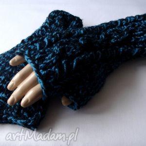 ręcznie robione rękawiczki mitenkowy melanż