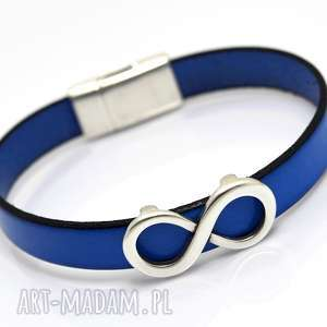 bransoletka skóra magnetoos infinity blue, bransoletka, skóra, rzemień