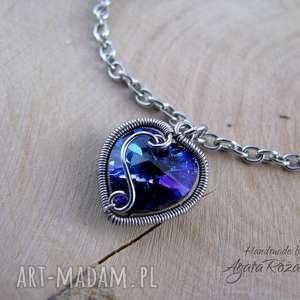 bransoletki bransoletka serce swarovski heliotrope, wire wrapping