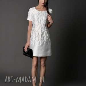 sukienki sukienka klasyczna, jedawbna tafta - liliana 40 l, kotajlowa