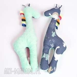 mięciutka, żyrafka minky - dinozaury, pluszak, zabawka, maskotka, przytulanka, minky