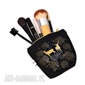 ręcznie robione kosmetyczki kosmetyczka wodoodporna jelenie z jeleniem, mała kobieca