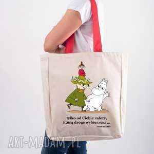 na ramię licencjonowana torba xxl muminki z czerwonym uchem tylko od ciebie