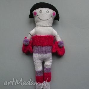lalka szmacianka maja, lalka, szmacianka, prezent, rajstopy, paski, śmieszna lalki