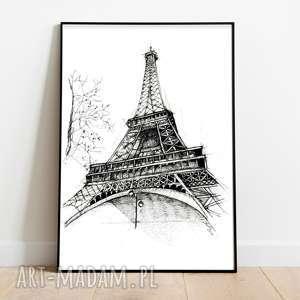 paryż wieża eiffla, eiffla wieża, paryż, dekoracja domu, szkic, wydruk, rysunek