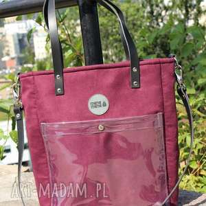 na ramię torba damska cubiod w kolorze bakłażanu, duża torba, ramię