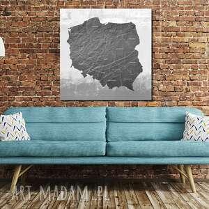 tablica korkowa mapa polski nr 5 obraz 100x100 pinezki dla podróżnika