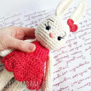Króliczka Malwina - ,króliczek,maskotki,przytulanka,królik,