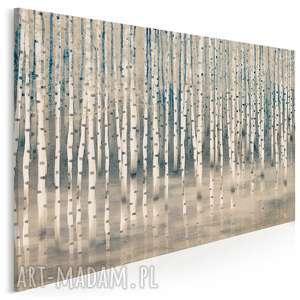obraz na płótnie - brzoza drzewo las beżowy 120x80 cm 94701, brzoza