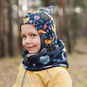 kominiarka czapka-skrzata rudy lisek, dla dzieci, czapka dziecka