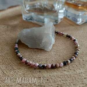 bransoletka z rodonitem - cherry blossom v, rodonit, kamieniami