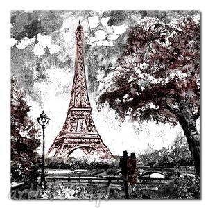 miasto paris paryż 1 - 80x80cm obraz na płótnie, paris, paryż, obraz, płótno, płótnie