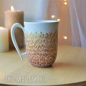 kubek ręcznie malowany ceramiczny złoto ombre, ceramiczny, ceramika